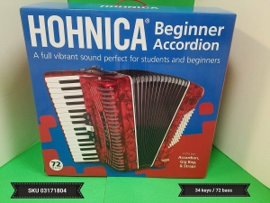 HOHNICA BEGINNER ACCORDION 72 BASS SKU # 03171804