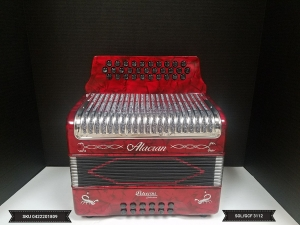 Alacran GCF / SOL 31 Button Accordion w/ Case & Straps New SKU 0422201807