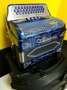 Alacran 5 switch FBE  Accordion Acordeon Blue