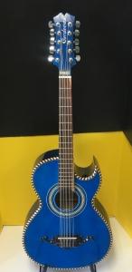 Cordovas Bajo Quinto BLUE W/ EMG Pick up (Chromed Passtilla EMG )