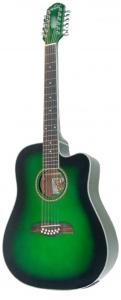Oscar Schmidt OD312CEB/TGR  Guitar -12 String Acoustic Electric Spruce Top