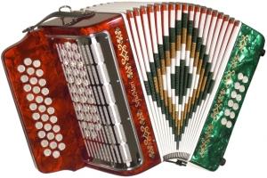 Sofia Mari SM3112 31 Button 12 Bass FBE Tri color green,white,red