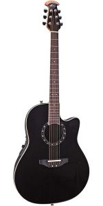Ovation Standard Balladeer 2771AX-5 Acoustic-electric Guitar, Black