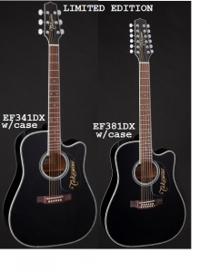 Takamine EF341DX 6-String EF381DX 12 STRING W/ Hard Shell Case LIMITED EDITION