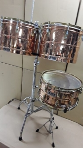 """Percussion 15"""" & 16"""" Timbales Drum Set W/ HERCH 14"""" SNARE W/ STAND BUNDLE !!!!!!"""