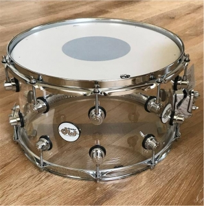 DW DDAC0814SSCL Snare Clear Acrylic 8x14 in