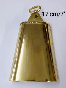 """Campana Dorada  GOLD cowbell 7"""""""