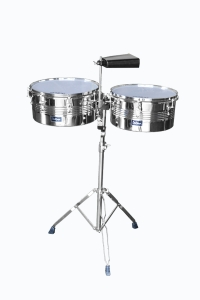De Rosa Timbale Set with Cow Bell and Stand Silver