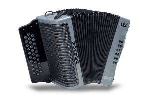 Hohner Corona C-II GCF Diatonic Accordion - Silver Rainbow