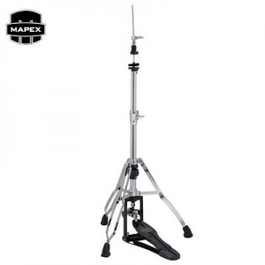 Armory Double Braced Swiveling 3-Leg Hi-Hat Stand w/ Quick Release - Chrome