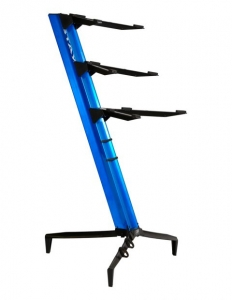 Stay Music Tower Stand Triple Tier 1300/03 Blue  with Custom Bag