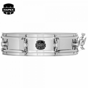 "MPX Steel Piccolo Steel Snare Drum MPST4351 - 14"" X 3.5"" - 1.0MM STEEL SHELL"