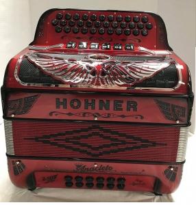 Hohner Anacleto Rey Aguila TT  Accordion Ruby Red GCF/ FBE