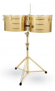 "LP258-BGD Tito Puente Timbales 15""-16"" all chromed Gold - Todo Dorado"