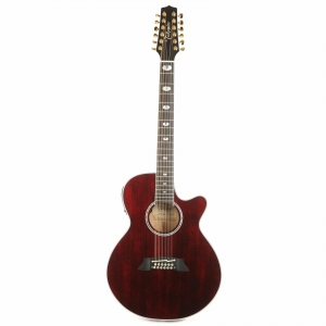Takamine TSP158C-12 STR Thinline 12-String Acoustic-Electric See-Through Red