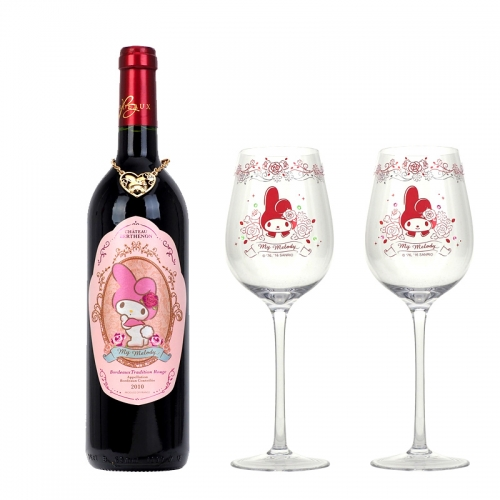 My Melody Bordeaux Tradition Rouge 2010 & Wine Glass Set