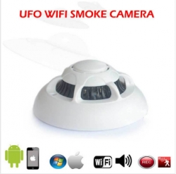 Smoke Detector w/ Hidden Wireless IP Camera