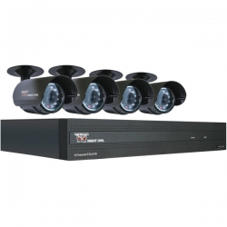 8-Channel STA DVR with 4 Night Vision Cameras, 500GB HD and Smartphone Viewing