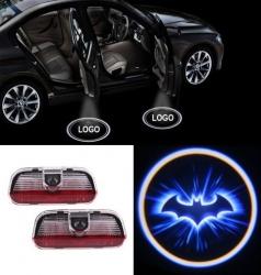 2x Batman LED Car Door Puddle Light for PORSCHE