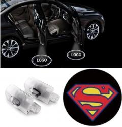 2x Superman LED Car Door Puddle Light for LEXUS