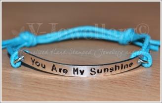 Quote Single Mulit-Plate Bracelet