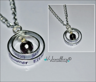 Personalised Spinning Pendant ~ 18-20""