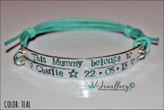 Mummy/Daddy belongs to... Multi-Plate Bracelet