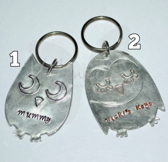 Personalised Etched Owl Keyring