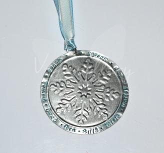 Personalised Embossed Snowflake Christmas Decoration