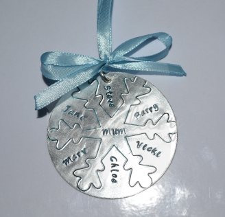 Personalised Large Snowflake Disc Christmas Decoration