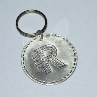 Personalised Stitched Effect Initial Keyring