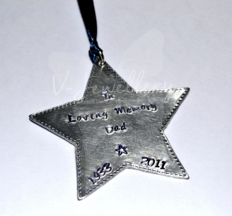 Personalised Stitched Effect Custom Shape Hanging Keepsake