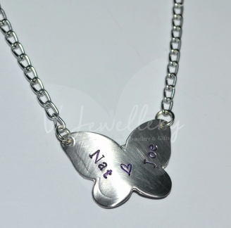 Personalised Butterfly Pendant 20""