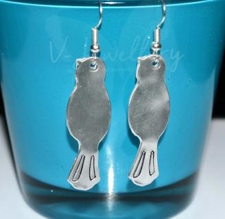 Long Bird Dangle Earrings