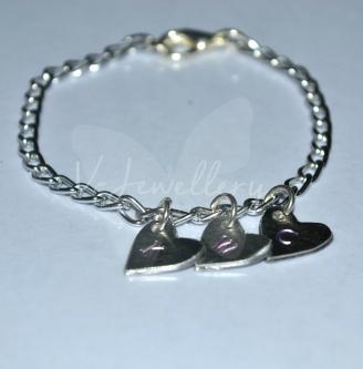 Personalised Dainty Initial Charm Bracelet