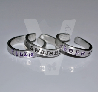 Fibromyalgia Awareness Stacking Rings Set *Higher Quality*
