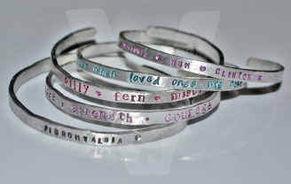 Personalised Hand Stamped Stacking Bangles *Higher Quality*