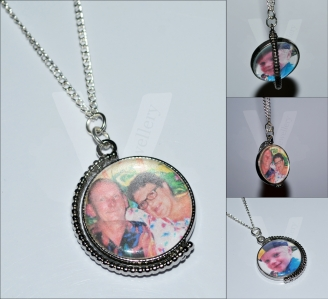 Personal Large Photo Spinning Pendant *26""