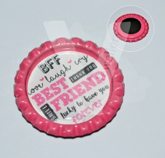 Quote Printed Design Keyring / Magnet