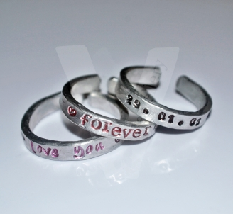 Personalised Hand Stamped Stacking Rings *Higher Quality*