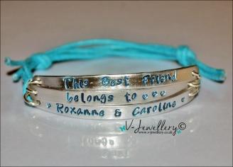 This Best Friend belongs to... Multi-Plate Bracelet