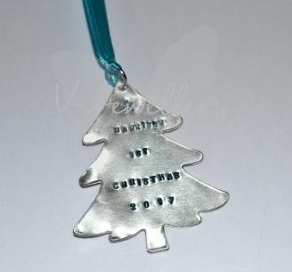 Personalised Christmas Tree Custom Shape Decorations