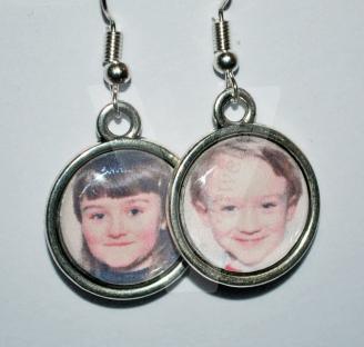Personal Photo Charm Earrings