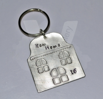 "Personalised ""New Home"" House Keyring"