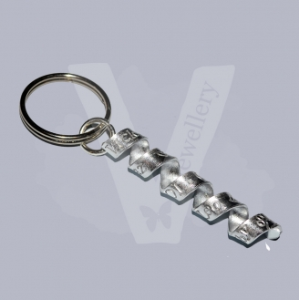"Personalised ""Secret Message"" Wrap Keyring"