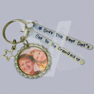 Personalised Photo Multi-Plate Bottle Cap Keyring