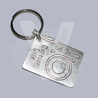 Personalised Etched Camera Keyring