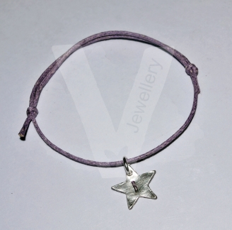 Personalised Initial Charm Adjustable Bracelet