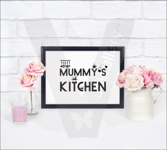 Personalised A4 Door/Wall Sign Silhouette Print