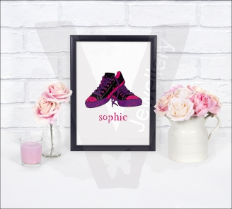 "Personalised ""Name"" A4 Custom Silhouette Print"